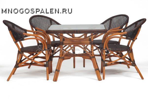 Комплект ( стол + 4 стула ) Secret De Maison Yama - Jiali купить в салоне-студии мебели Барселона mnogospalen.ru много спален мебель Италии классические современные