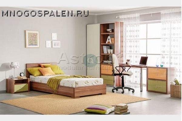 Модульная спальня T101 ASTRON купить в салоне-студии мебели Барселона mnogospalen.ru много спален мебель Италии классические современные